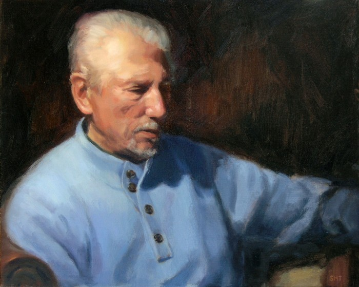 THE ARTIST, 18 x 24 inches, oil on linen, private collection
