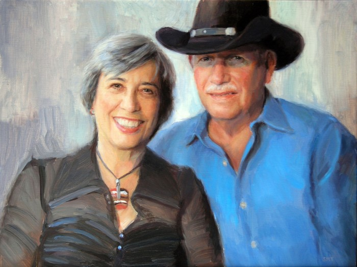 ALICIA & HOWARD, 18 x 24 inches, oil on linen, commission, private collection